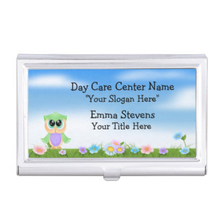 Child Care Baby Owl Business Card Holder
