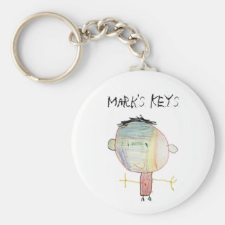 Child Drawing Keychain
