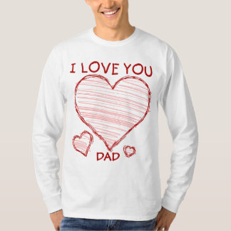 Child-like declaration of love in crayon & marker T-Shirt