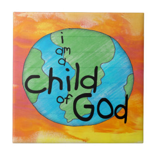 Child of God Small Square Tile