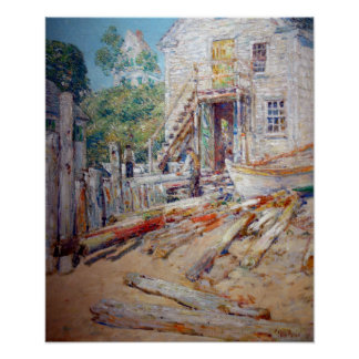Childe Hassam Rigger's Shop, Provincetown, Mass Poster