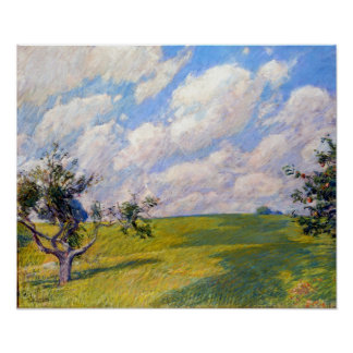 Childe Hassam September Clouds Poster