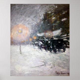 Childe Hassam Winter, Midnight Poster