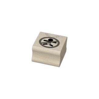 "Childfree Linkup Logo 1"" x 1"" Rubber Stamp"
