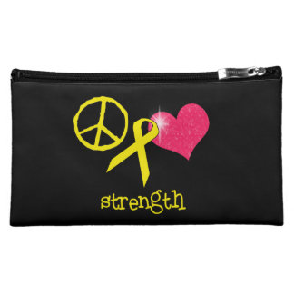 Childhood Cancer Awareness Cosmetic Bags