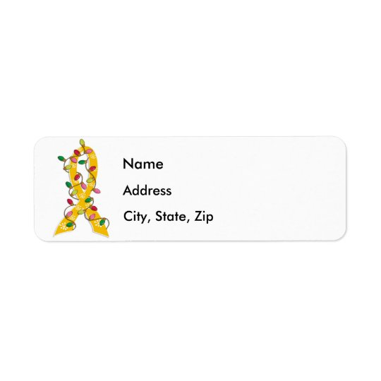 Childhood Cancer Christmas Lights Ribbon