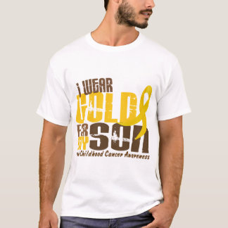 Childhood Cancer I WEAR GOLD FOR MY SON 6.3 T-Shirt
