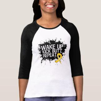 Childhood Cancer Wake Up Kick Butt Repeat Shirt