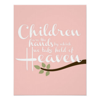Children are the hands Nursery Poster