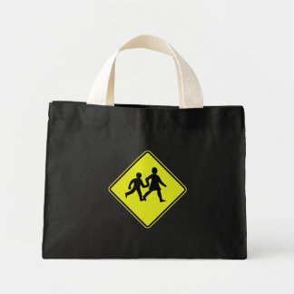 Children Crossing, Traffic Sign, New Zealand Bags