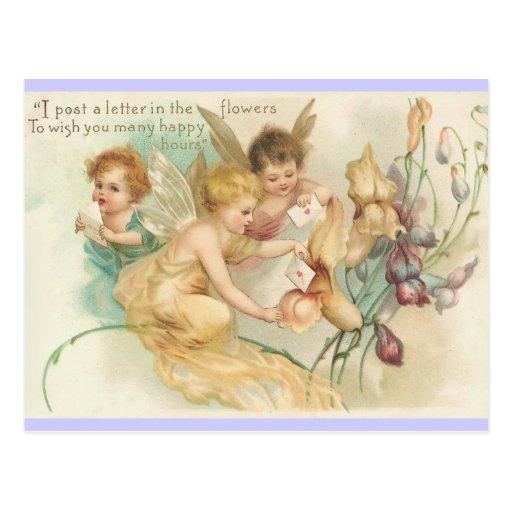 Children Fairies - Vintage Art Card Post Card