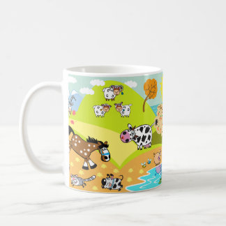 children illustration coffee mug