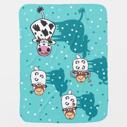 children illustration baby blanket