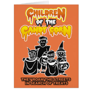 Children of the Candy Corn Halloween Card