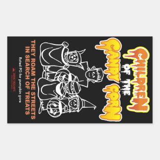 Children of the Candy Corn Horror Movie Rectangular Sticker
