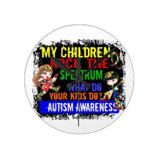 Children Rock The Spectrum Autism Wallclock