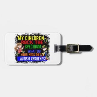 Children Rock The Spectrum Autism Travel Bag Tag