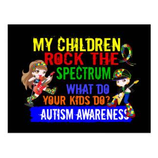 Children Rock The Spectrum Autism Postcards
