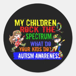 Children Rock The Spectrum Autism Round Sticker