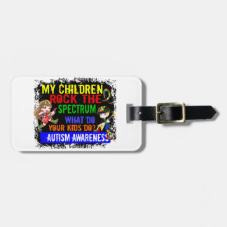 Children Rock The Spectrum Autism Tag For Luggage