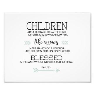 Children Scripture Verse with Arrows Photo Print