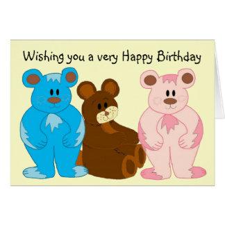 Childrens Birthday Bears Card