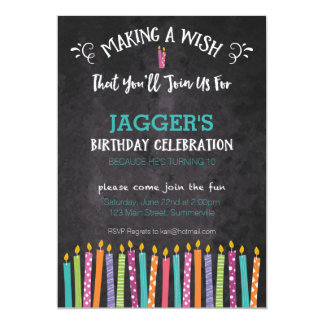Children's Birthday Invitation (Candles)