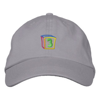 Childrens Block Puff 3 Embroidered Hat
