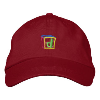 Childrens Block Puff D Embroidered Hats