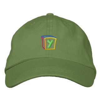Childrens Block Puff Y Embroidered Baseball Caps