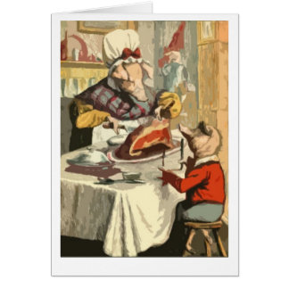 Children's book holiday feast greeting card