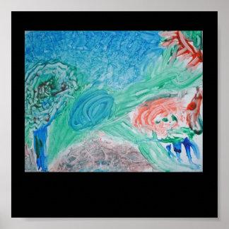 Childrens Finger Paint Poster