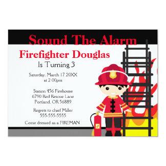 Children's Fire Firefighter Birthday Invitation