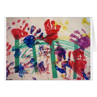 Children's handprint Garden Card