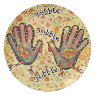 Children's Turkey Hand Fun Thanksgiving Plate
