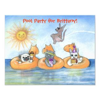 Child's Pool Party Invitation
