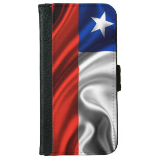 Chile Flag Fabric iPhone 6 Wallet Case