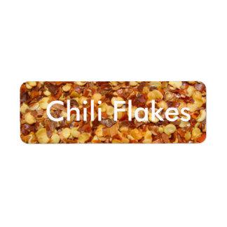 Chili Flakes Return Address Label