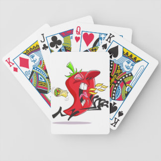 Chili Pepper Breathing Fire Playing Cards Bicycle Playing Cards