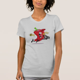 Chili Pepper Breathing Fire Womens T-Shirt