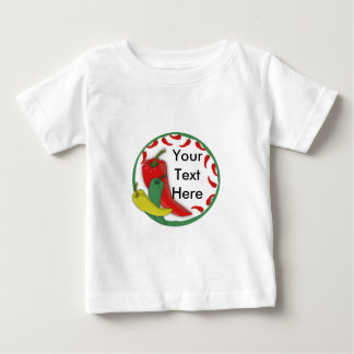Chili Pepper Group Circle Frame3 Baby T-Shirt