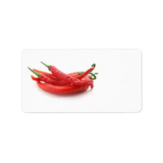 chili peppers address label