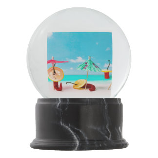 Chili Peppers By The Sea Snow Globe