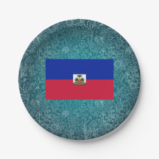 Chill Flag of Haiti Paper Plate