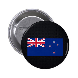 Chill Flag of New Zealand 6 Cm Round Badge