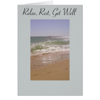 Chill Out Beach Get Well Greeting Card