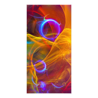 Chill Out , Colorful Digital Abstract Art Photo Card