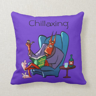 Chillaxing The Devil Relaxing Cushion