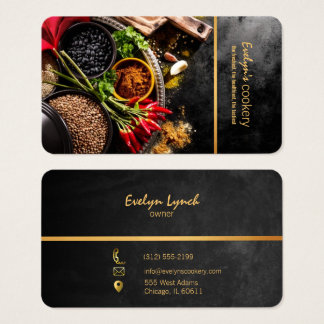 chilli and spices restaurant business card