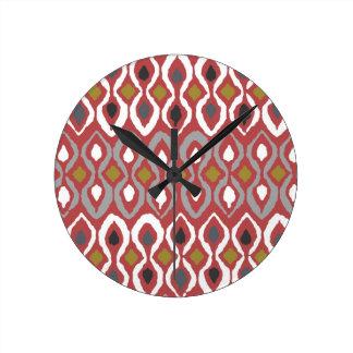 chilli pestle round clock